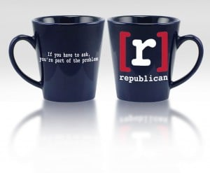 Get your [r]epublican coffee mug & travel mug at Mike's Founders Tradin' Post
