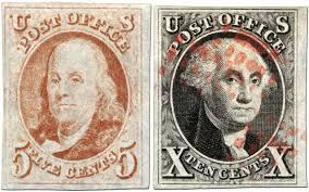 Franklin and Washington stamps