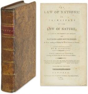 Emmerich de Vattel's Law of Nations