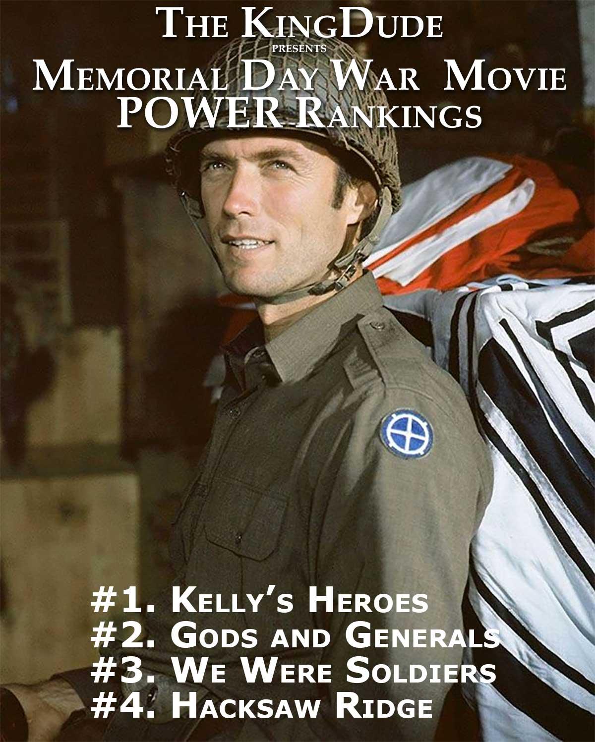 The KingDude Memorial Day War Movie Power Rankings